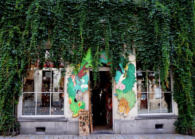 Street Art Bruxelles magasin verdure