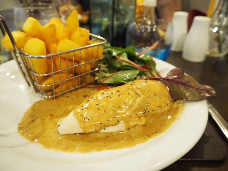 Haggis chicken dish at the elphinstone, Biggar