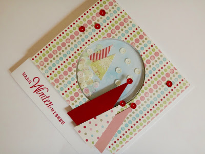 Hand Made Christmas Trees Shaker Card with Sequins