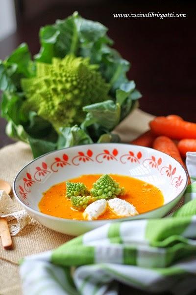 crema carote zenzero ricetta vegetariana