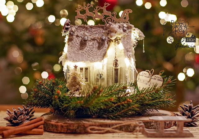 Domek z lampkami led