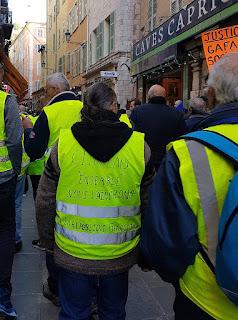 Les Gilets jaunes à Nice
