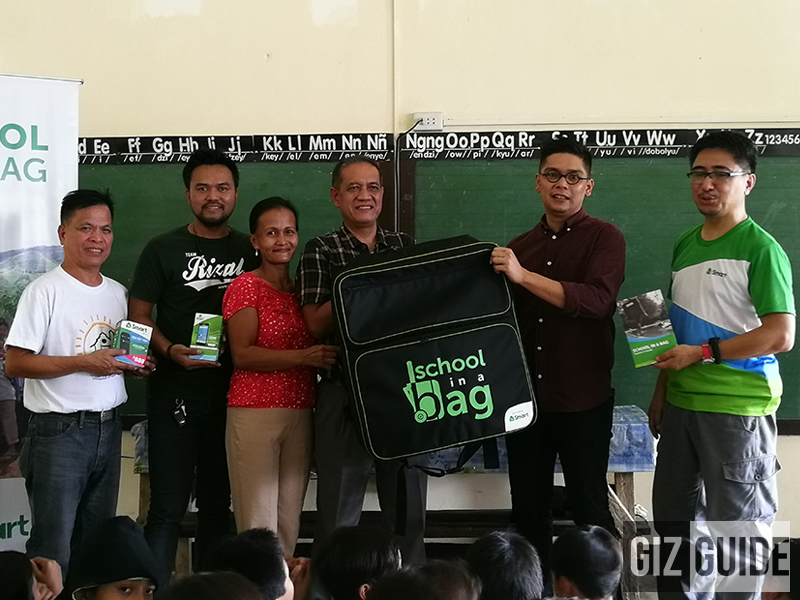 Smart and donors successfully donated School-in-a-Bag to Nayon Elementary School