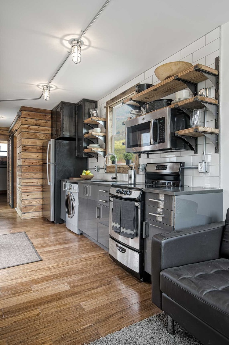 Tiny house town freedom from minimalist homes 300 sq ft Kitchen design for tiny house