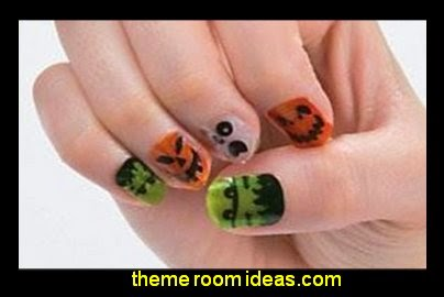 HALLOWEEN NAIL DECALS Party Costume Decoration Decal Stickers