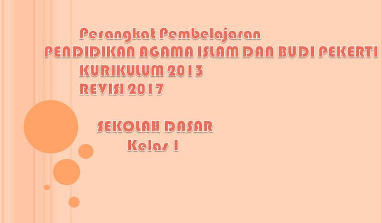 RPP Prota Promes PAI dan Budi Pekerti SD Kelas 1 Kurikulum 2013 Revisi 2017