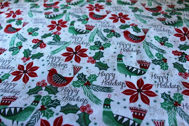 holiday fabric from JoAnns