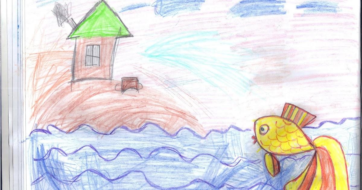 Рисунок к сказке Золотая рыбка 2 класс | Наши дети ...