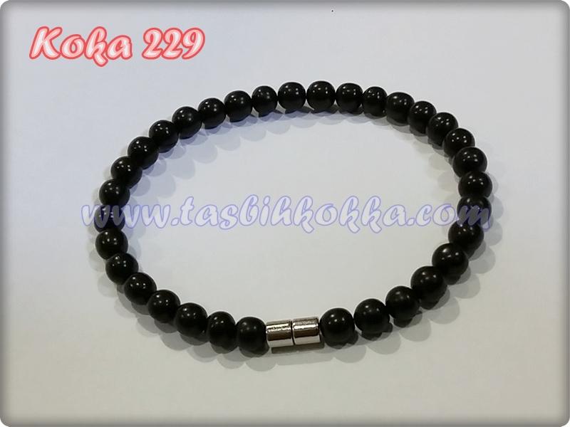 Gelang Kokka 229 bulat ulir hitam