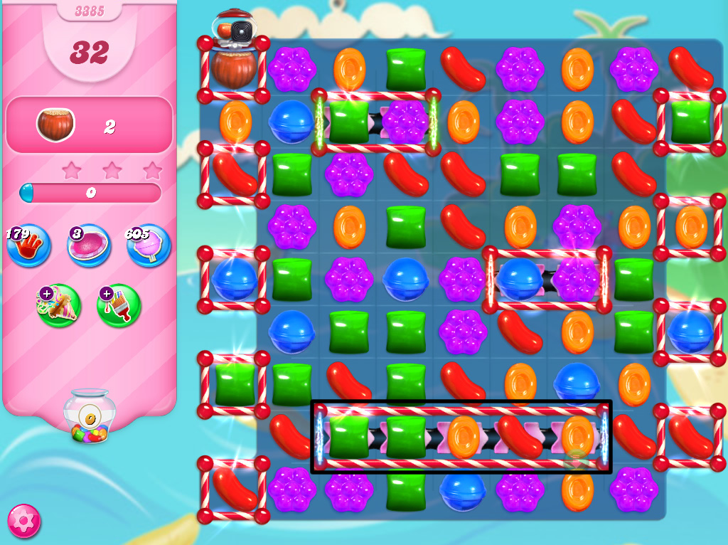 Candy Crush Saga level 3385