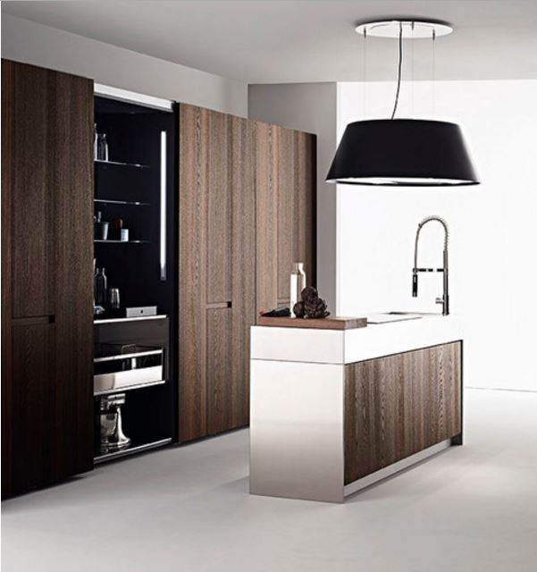 35 hidden kitchens tricks to hide the kitchen for space saving. Black Bedroom Furniture Sets. Home Design Ideas