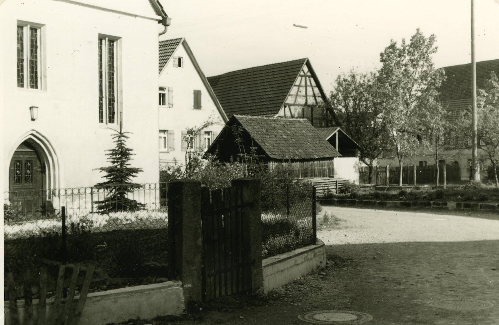 Walddorfhslach 50er Jahre An der Kirche zu Walddorf