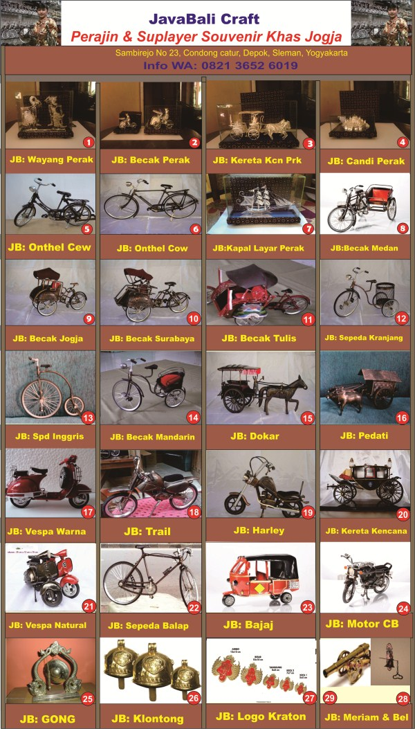 Miniatur Vespa Klasik dan Funky - Miniatur Sepeda Onthel ...