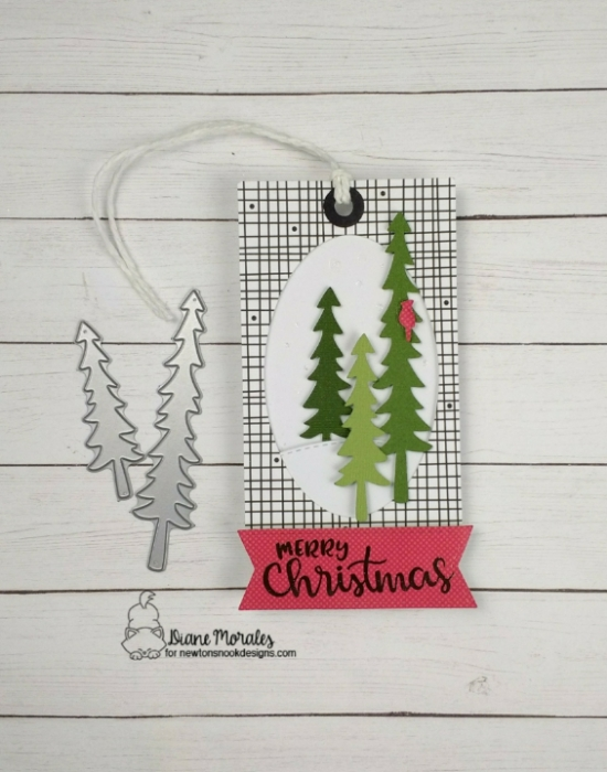 Merry Christmas by Diane features Forest Scene Builder and Sentiments of the Season by Newton's Nook Designs; #newtonsnook