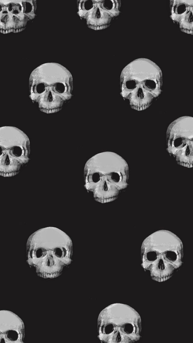 Skeleton Pattern Wallpaper Cute Lovedandsign Halloween Wallpaper For Iphone