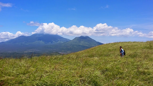 Mt. Banahaw and Mt. Cristobal as seen from the summit of Mt. Kalisungan