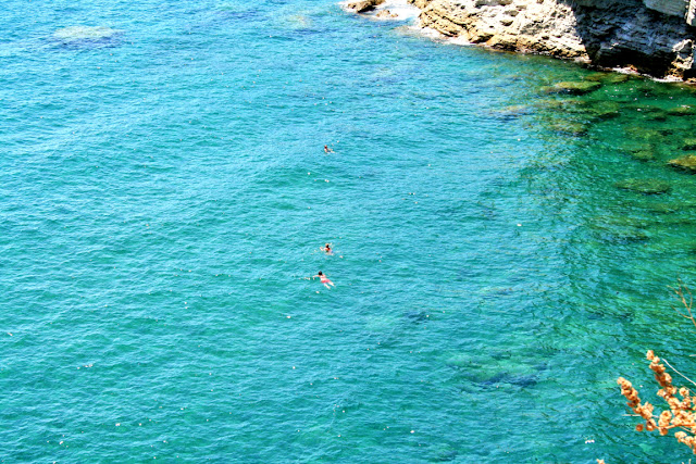 mare, acqua, bagnanti, turisti, rocce, Ischia