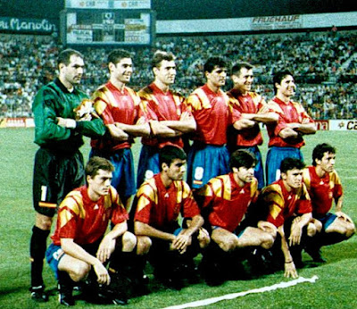 Formación de España ante Chile, amistoso disputado el 8 de septiembre de 1993