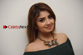 Kannada Actress Karunya Ram Stills in Strapless Green Short Dress at Eradu Kanasu Movie Press Meet  0015.jpg