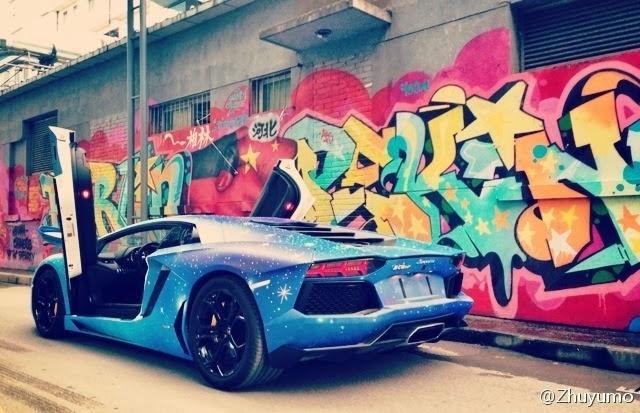 Lamborghini Aventador Gets Galaxy Wrap