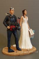 statuette torta matrimonio tema mare sub macchina fotografica subacquea orme magiche