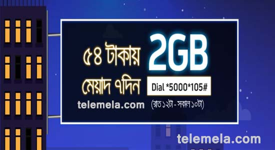 GP 2GB night pack internet 54tk