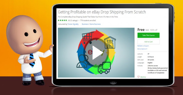 [100% Off] Getting Profitable on eBay Drop Shipping From Scratch| Worth 20$