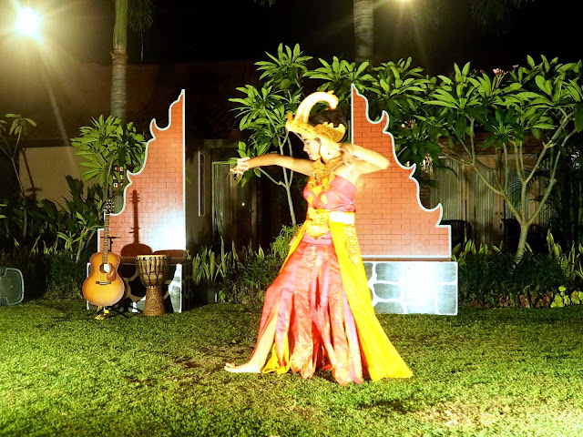 Traditional Balinese dance in Kubuku hotel, Pemuteran, Bali, Indonesia
