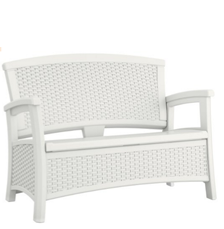 Suncast ELEMENTS® Loveseat with Storage, White