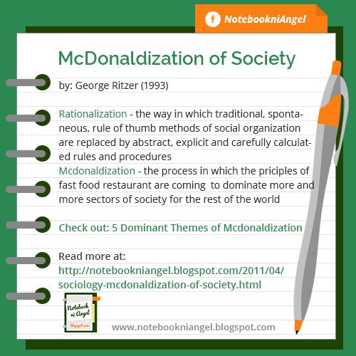 Mcdonalization of society