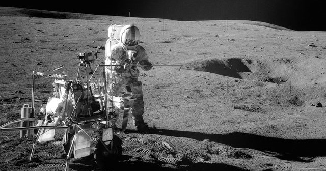 Apollo 14 astronaut Alan Shepard. A new UCLA study determined the age of the moon by analyzing minerals brought back by the 1971 mission. Credit: NASA