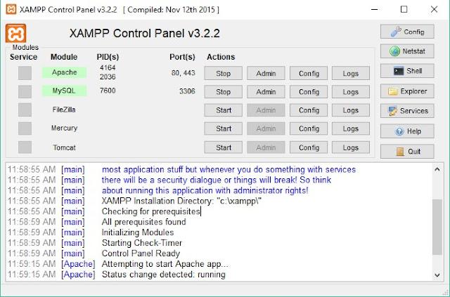 aplikasi web server xampp