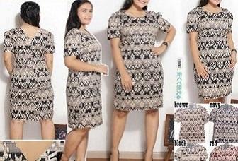 Dress Batik Untuk Orang Gemuk Gamis Brokat