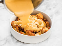 SPICY ROASTED CAULIFLOWER WITH CHEESE SAUCE