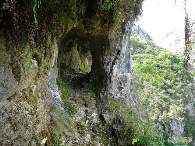 Canal de Reñinuevo: Túnel sobre la roca
