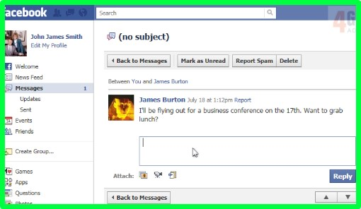 how to view messages on a facebook page