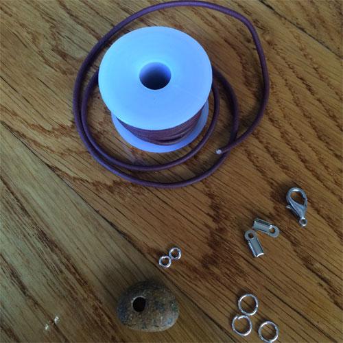 benodigdheden armband met steen