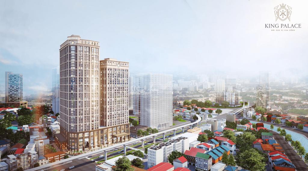 Phối cảnh tổng thể dự án King Place Nguyễn Trãi