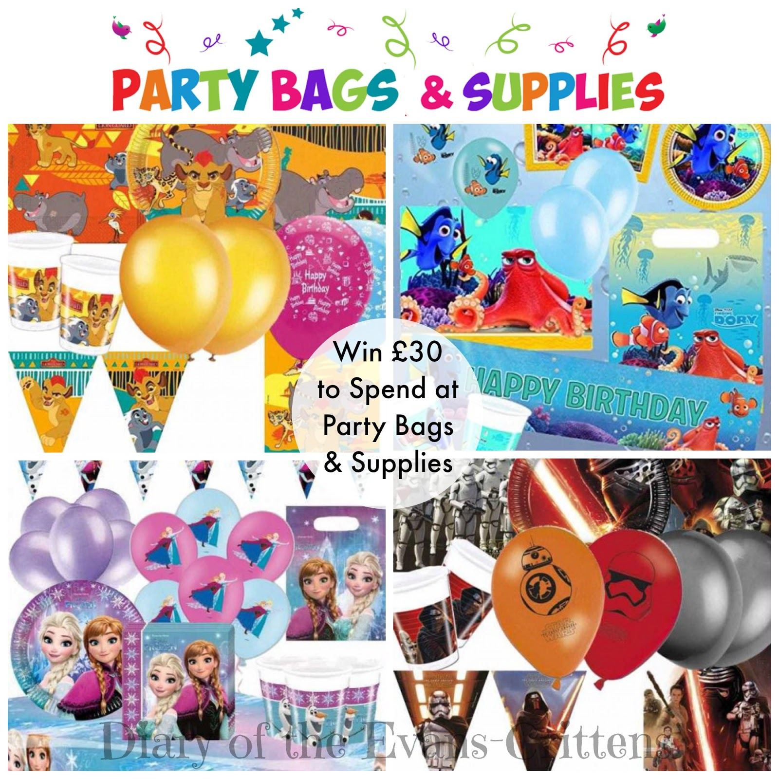 , Giveaway:  Win £30 to Spend at Party Bags and Supplies