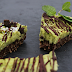 RAW mint chocolate chip cheesecake