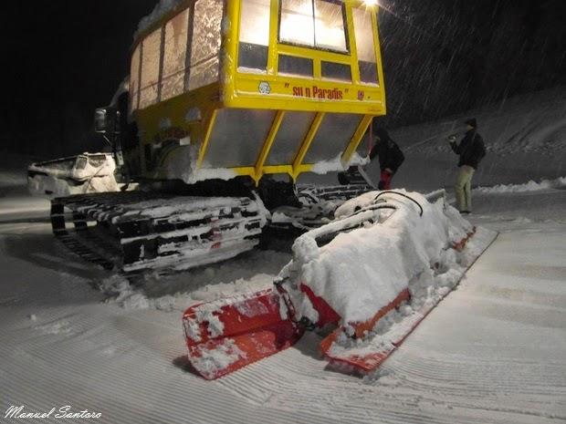 Pecol di Zoldo Alto, gatto delle nevi verso il Rifugio S'un Paradise