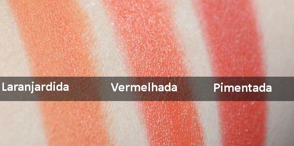 Batom Matte Laranjardida, Vermelhada e Pimentada