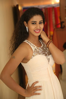 Actress Pavani Stills in Sleeveless Long Dress  0007