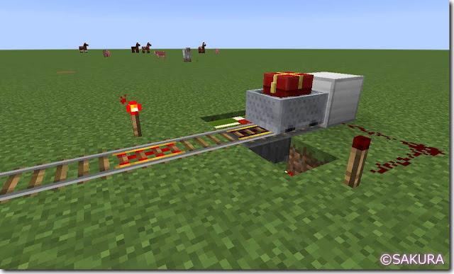 Minecraft トロッコ運送 荷降ろし駅 クリスマス