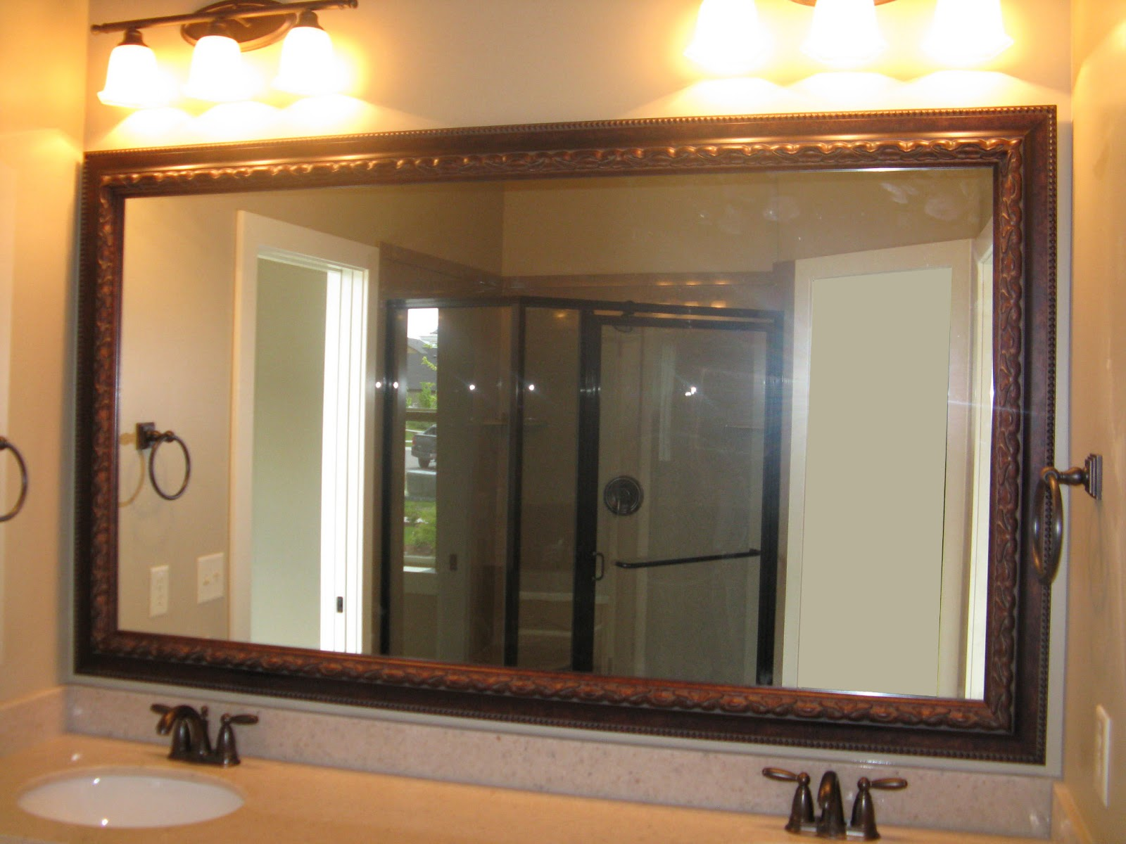 Reflected Design: Same Mirror Frame Kit, 4 Different Looks