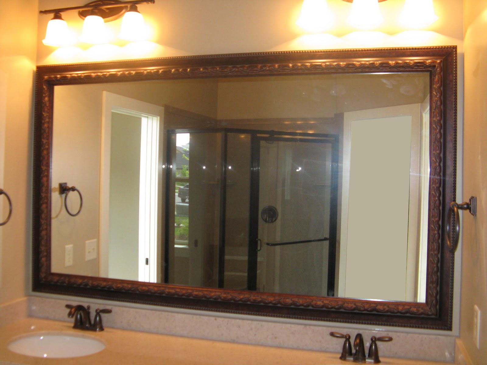Reflected design same mirror frame kit 4 different looks - Mirror frame kits for bathroom mirrors ...
