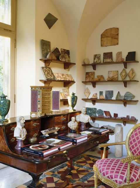 18th-century walnut desk | Paola Santarelli's home in Rome Photographs by Henry Bourne