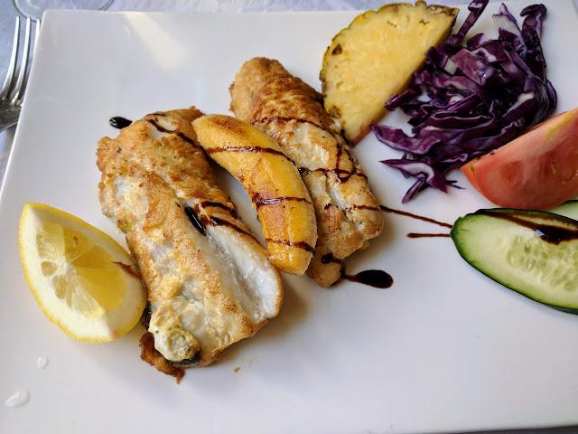 black scabbardfish (espada) served with banana on Madeira