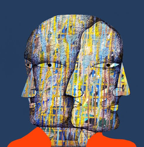 """10th – 21st Dec.2018: Pradarshak presents ""Talking Heads"" - Mix medium paintings by Rohan Dumbre"""