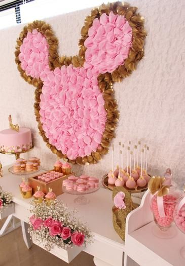Decoracion Minnie Gold ~ IDEAS DECORACI?N MINNIE PINK AND GOLD  Una Mami Creativa